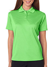 Ultraclub 8305L Women Cool & Dry Elite Minicheck Jacquard Polo at GotApparel
