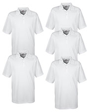 Ultraclub 8320 Men Platinum Performance Jacquard Polo With Temp Control Technology 5-Pack at GotApparel