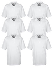 Ultraclub 8320 Men Platinum Performance Jacquard Polo With Temp Control Technology 6-Pack at GotApparel