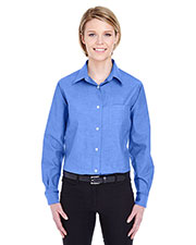 UltraClub 8361 Women Long Sleeve Performance Pinpoint at GotApparel