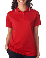 UltraClub 8394L Women Cool & Dry Sport Polo with Tipped Collar at GotApparel