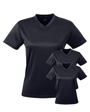 Ultraclub 8400L Women Cool & Dry Sport V-Neck Tee 3-Pack at GotApparel