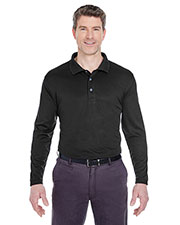 UltraClub 8405LS Men Cool & Dry Sport Long Sleeve Polo at GotApparel