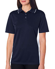 UltraClub 8406L Women Cool & Dry Sport 2-Tone Polo at GotApparel