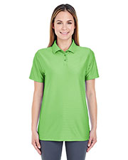Ultraclub 8413L Women Cool & Dry Elite Tonal Stripe Performance Polo at GotApparel