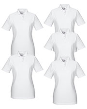 Ultraclub 8414 Women Cool & Dry Elite Performance Polo 5-Pack at GotApparel