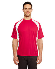 UltraClub 8421 Adult Cool & Dry Sport 2-Tone Performance Interlock Tee at GotApparel