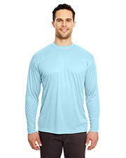 UltraClub 8422 Men Cool & Dry Sport Long Sleeve Performance Interlock Tee at GotApparel