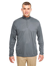 UltraClub 8424 Adult Men Cool & Dry Sport Performance Interlock 1/4-Zip Pullover at GotApparel
