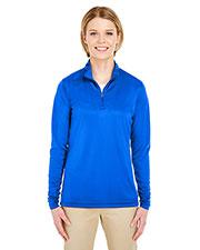 UltraClub 8424L Women Cool & Dry Sport Performance Interlock 1/4-Zip Pullover at GotApparel