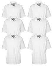 Ultraclub 8445 Men Cool & Dry Stain-Release Performance Polo 6-Pack at GotApparel