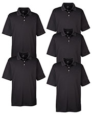 Ultraclub 8445 Men Cool & Dry Stain-Release Performance Polo 5-Pack at GotApparel