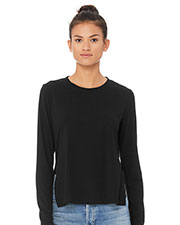 Bella + Canvas 8450B Fast Fashion Women Side Slit Long-Sleeve T-Shirt at GotApparel
