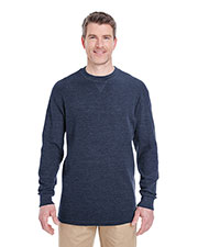 UltraClub 8455 Men Mini Thermal Crew Neck at GotApparel
