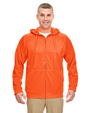 Ultraclub 8463 Men Rugged Wear Thermal-Lined Full-Zip Hooded Fleece at GotApparel