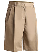 Edwards 8467 Women Moisture Wicking Wringle Resistant Zipper Pleated Chino Short at GotApparel