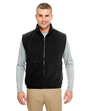 UltraClub 8486 Men Iceberg Fleece Full Zip Vest at GotApparel