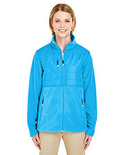 UltraClub 8493 Women Fleece Jacket with Quilted Yoke Overlay at GotApparel