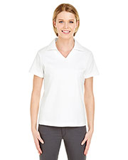 UltraClub 8507 Women Egyptian Interlock V-Neck Polo at GotApparel