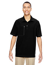 North End 85120 Men Excursion Crosscheck Performance Woven Polo at GotApparel