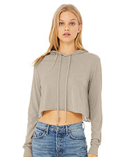Bella + Canvas 8512 Women Cropped Long Sleeve Hooded Sweatshirt at GotApparel