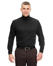 UltraClub 8516 Men Egyptian Interlock Long Sleeve Turtleneck at GotApparel
