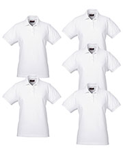 Ultraclub 8530 Women Classic Pique Polo 5-Pack at GotApparel