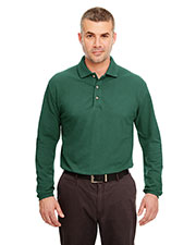 UltraClub 8532 Men Long Sleeve Classic Pique Polo at GotApparel