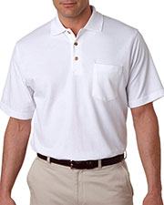 UltraClub 8534 Men Classic Pique Polo with Pocket at GotApparel