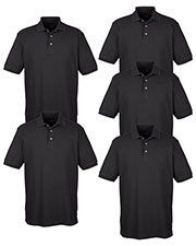 Ultraclub 8535 Men Classic Pique Polo 5-Pack at GotApparel