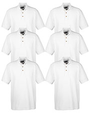 Ultraclub 8535 Men Classic Pique Polo 6-Pack at GotApparel