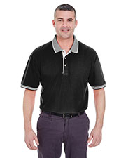 UltraClub 8537 Men ColorBody Classic Pique Polo with Contrast MultiStripe Trim at GotApparel
