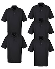 Ultraclub 8540 Men Whisper Pique Polo 5-Pack at GotApparel