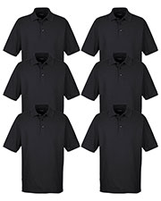 Ultraclub 8540 Men Whisper Pique Polo 6-Pack at GotApparel