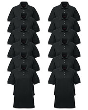 Ultraclub 8541 Women Whisper Pique Polo 12-Pack at GotApparel