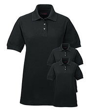 Ultraclub 8541 Women Whisper Pique Polo 3-Pack at GotApparel