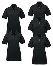 Ultraclub 8541 Women Whisper Pique Polo 5-Pack at GotApparel