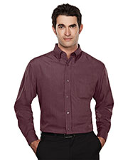 Tri-Mountain 860 Men Convention Rayon/Poly Long Sleeve Shirt With Mini Houndstooth Pattern at GotApparel