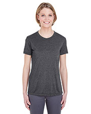 UltraClub 8619L Women Cool & Dry Heather Performance Tee at GotApparel