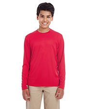 UltraClub 8622Y  Youth Cool & Dry Performance Long-Sleeve Top at GotApparel