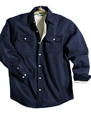 Tri-Mountain 869 Men's Tahoe Denim Long-Sleeve Shirt Jacket at GotApparel