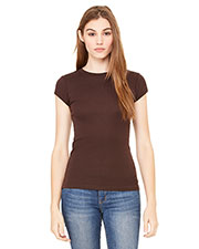Bella + Canvas 8701 Women Sheer Mini Rib Short-Sleeve T-Shirt at GotApparel