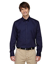 North End 87041 Men Establish Wrinkle-Resistant Cotton Blend Dobby Stripe Shirt at GotApparel