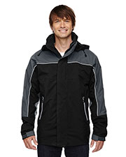 North End 88052 Men 3-in-1 SeamSealed MidLength Jacket with Piping at GotApparel
