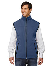 North End 88127 Men Three-Layer Light Bonded Performance Soft Shell Vest at GotApparel