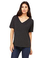 Bella + Canvas 8815 Women Slouchy V-Neck T-Shirt at GotApparel