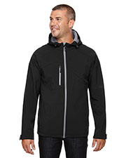 North End 88166 Men Prospect TwoLayer Fleece Bonded Soft Shell Hooded Jacket at GotApparel