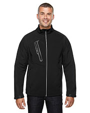 North End 88176 Men Terrain Colorblock Soft Shell with Embossed Print at GotApparel