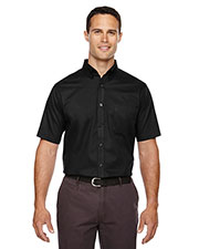 Core 365 88194T Men Tall Optimum short sleeve Twill Shirt at GotApparel