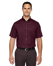 Core 365 88194 Men Optimum Short-Sleeve Twill Shirt at GotApparel